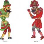 traditionelle shadow puppets turkey-karagoz_hacivat